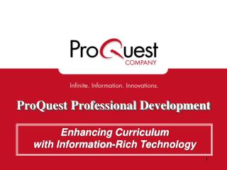 ProQuest Professional Development