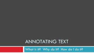 Annotating text