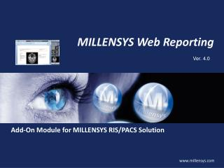 MILLENSYS Web Reporting