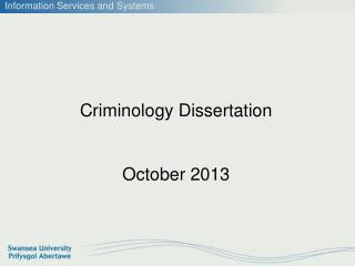 Criminology Dissertation  October 2013