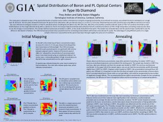 Spatial  Distribution  of  Boron  and PL  Optical  C enters  in Type  IIb Diamond