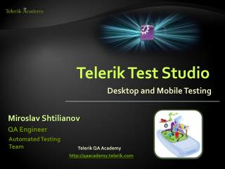 Telerik  Test  Studio