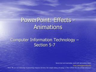PowerPoint: Effects - Animations