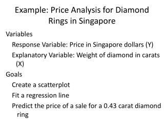 Example: Price Analysis for Diamond Rings in Singapore