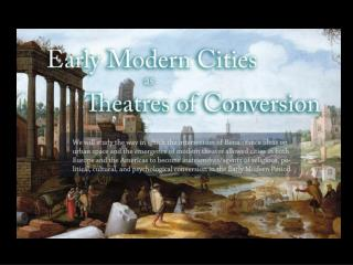 Early Modern Urban Subject Positions