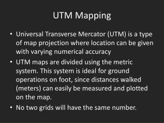 UTM Mapping