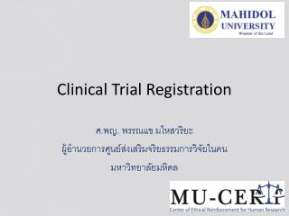 Clinical Trial Registration