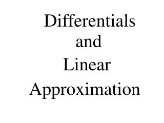 Differentials