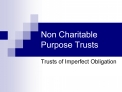 Non Charitable Purpose Trusts