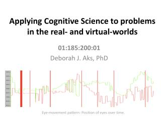 Applying Cognitive Science to problems in the real- and virtual-worlds