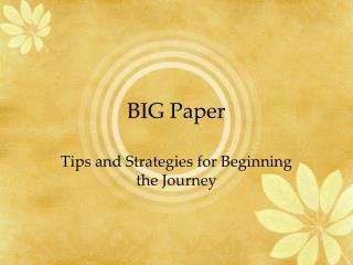 BIG Paper