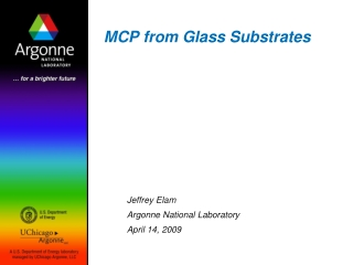 MCP from Glass Substrates