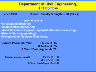 Department of Civil Engineering,  I I T Bombay