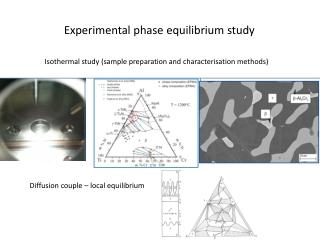 Experimental phase equilibrium study