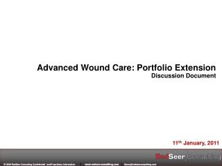 Advanced Wound Care: Portfolio Extension Discussion Document