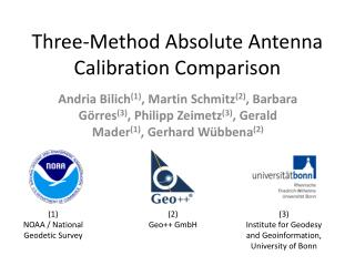 Three-Method Absolute Antenna Calibration Comparison