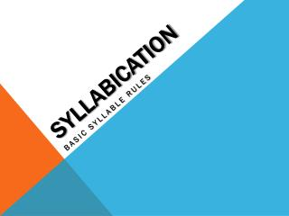SYLLABICATION