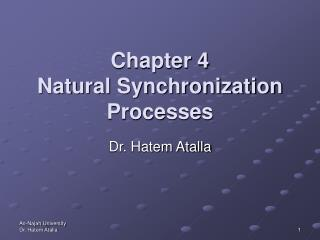 Chapter 4 Natural Synchronization Processes