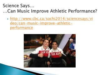 Science Says… …Can Music Improve Athletic Performance?