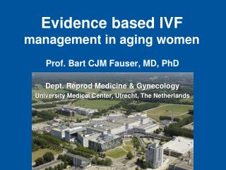 Evidence based IVF  management in aging women