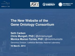 The New Website of the  Gene Ontology  Consortium