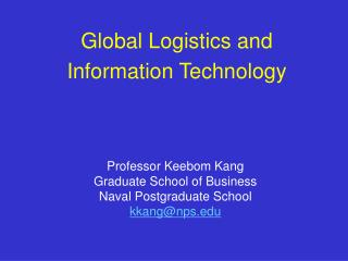 Global Logistics and Information Technology