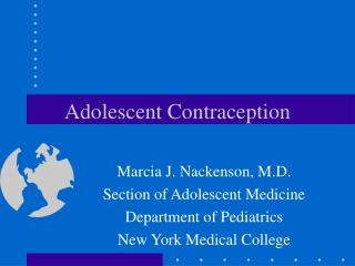 Adolescent Contraception