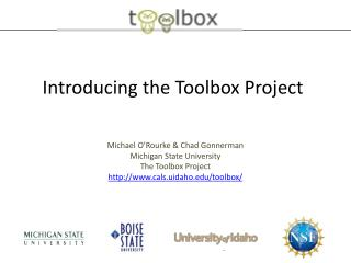 Introducing the Toolbox Project
