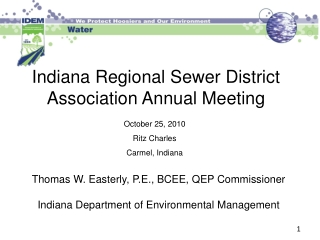 Indiana Regional Sewer District Association Annual Meeting
