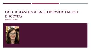 OCLC Knowledge Base: Improving patron discovery