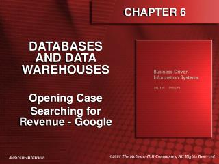 DATABASES AND DATA WAREHOUSES  Opening Case Searching for Revenue - Google