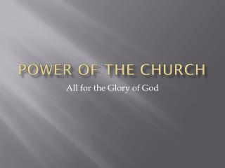 Power of the Church