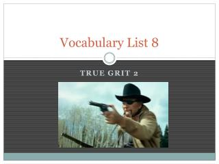 Vocabulary List 8