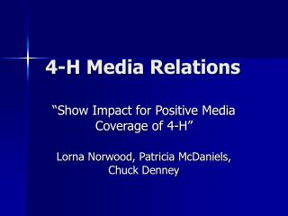 4-H Media Relations