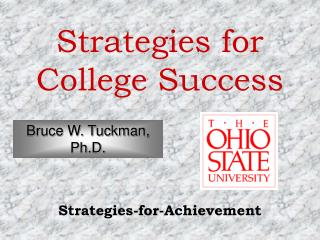 Strategies for College Success