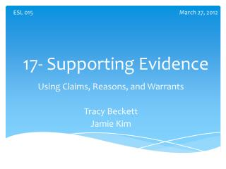 17- Supporting Evidence