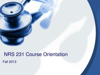 NRS 231 Course Orientation
