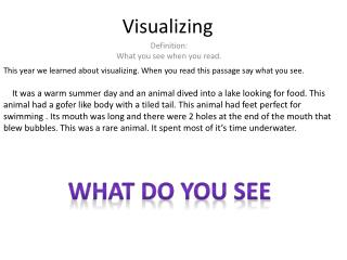 Visualizing