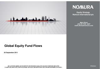 Global Equity Fund Flows