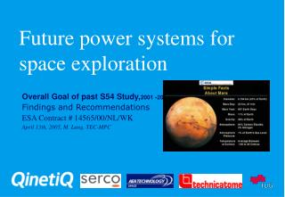 Future power systems for space exploration