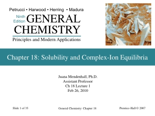 Chapter 18: Solubility and Complex-Ion Equilibria