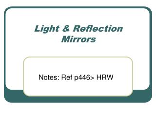Light & Reflection Mirrors