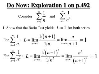 Do Now: Exploration 1 on p.492