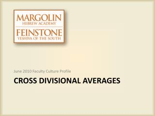 Cross Divisional Averages