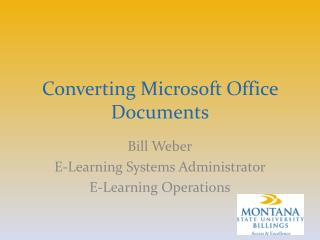 Converting Microsoft Office Documents