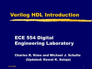 Verilog HDL Introduction