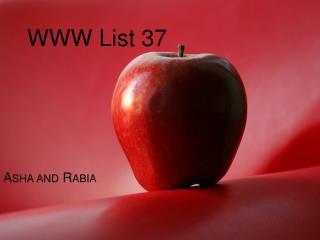 WWW List 37