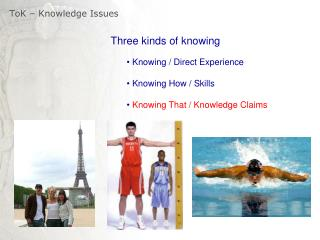 ToK  – Knowledge Issues