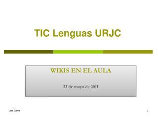 TIC Lenguas URJC