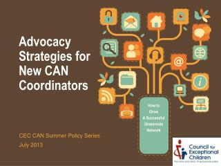 Advocacy Strategies for New CAN Coordinators
